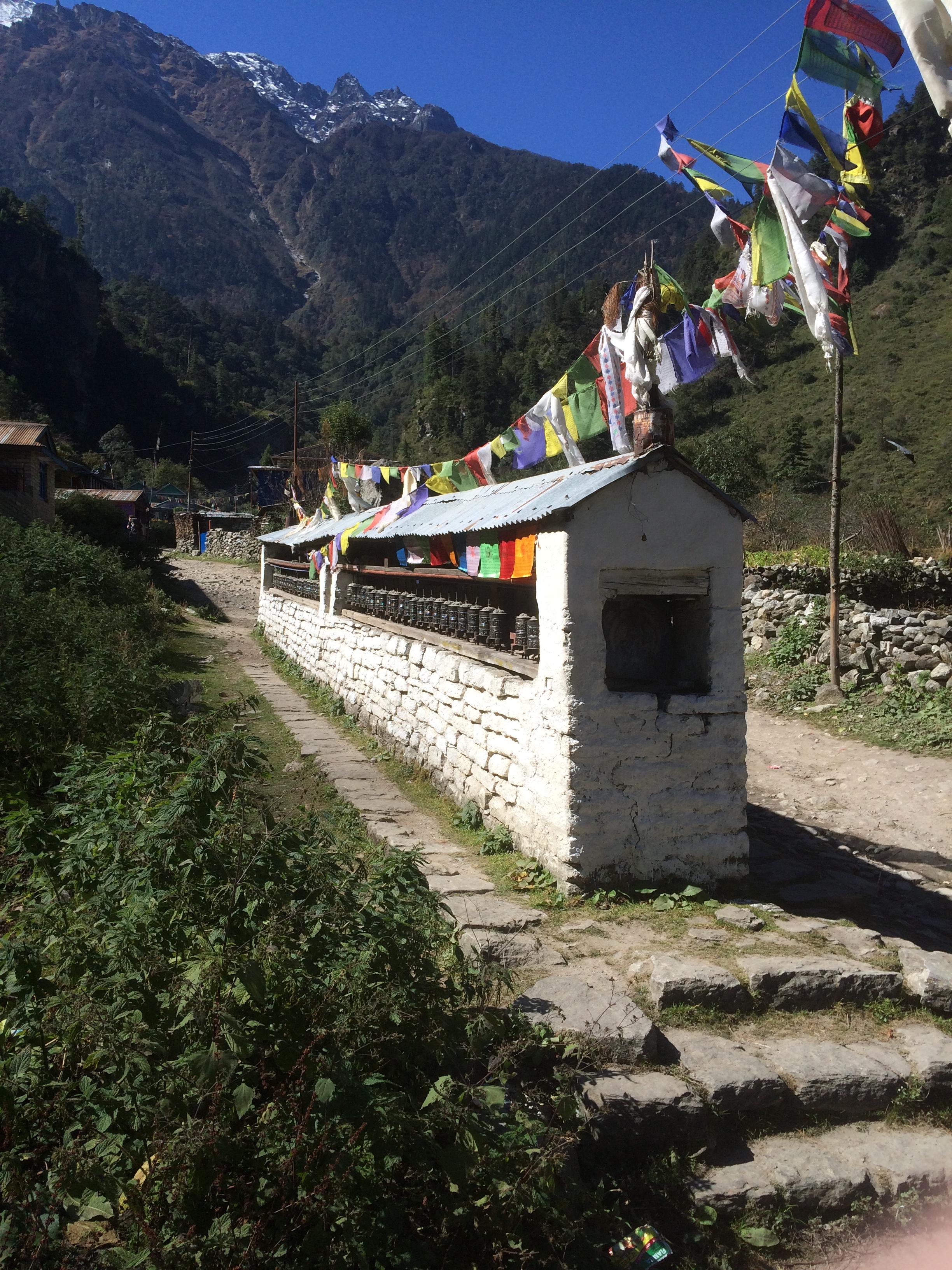 Prayer wheels at Timang