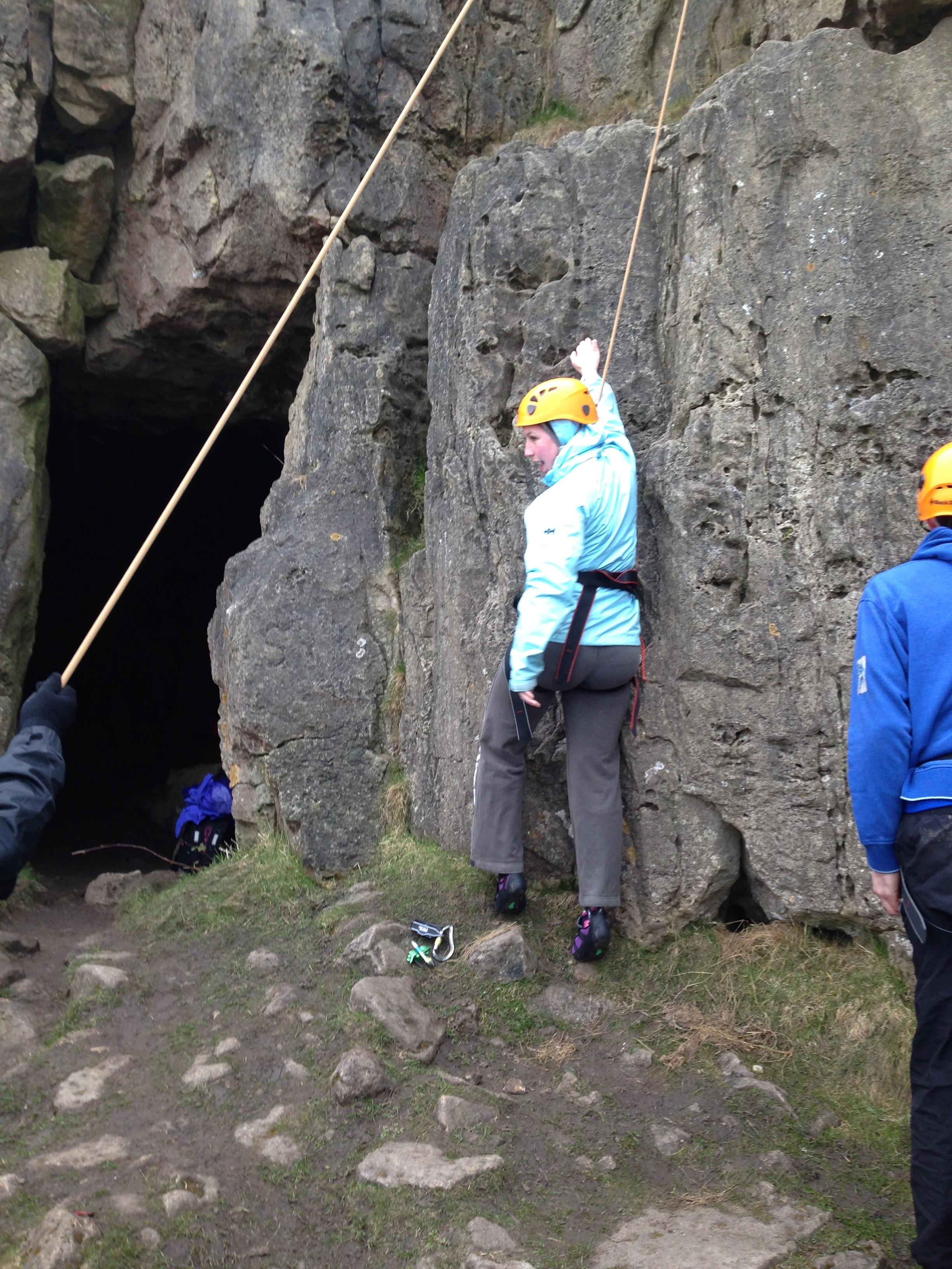 Climbing at Harborough Rocks