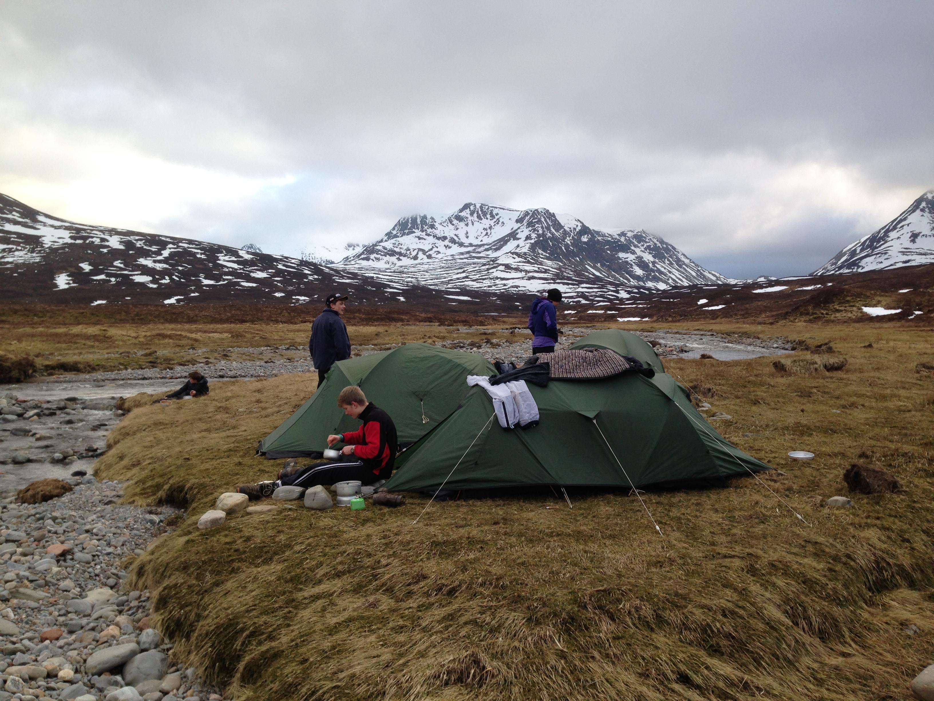 Camping below Ben Alder