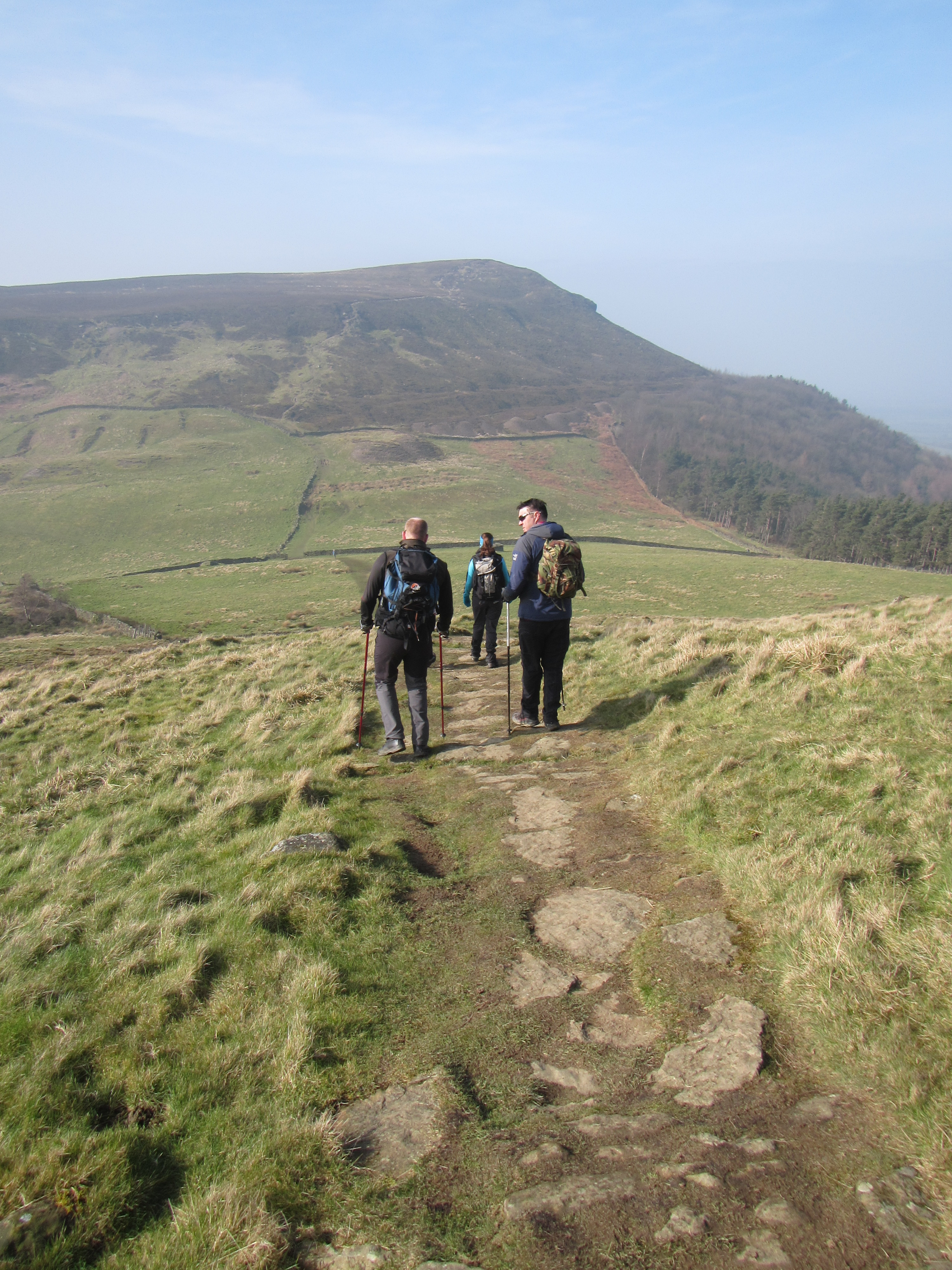 Descending from the Wainstones, North York Moors