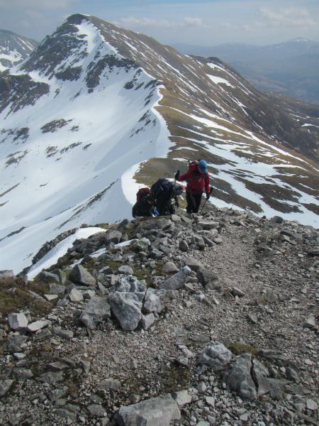 Approaching the summit of Sgurr an Iubhair