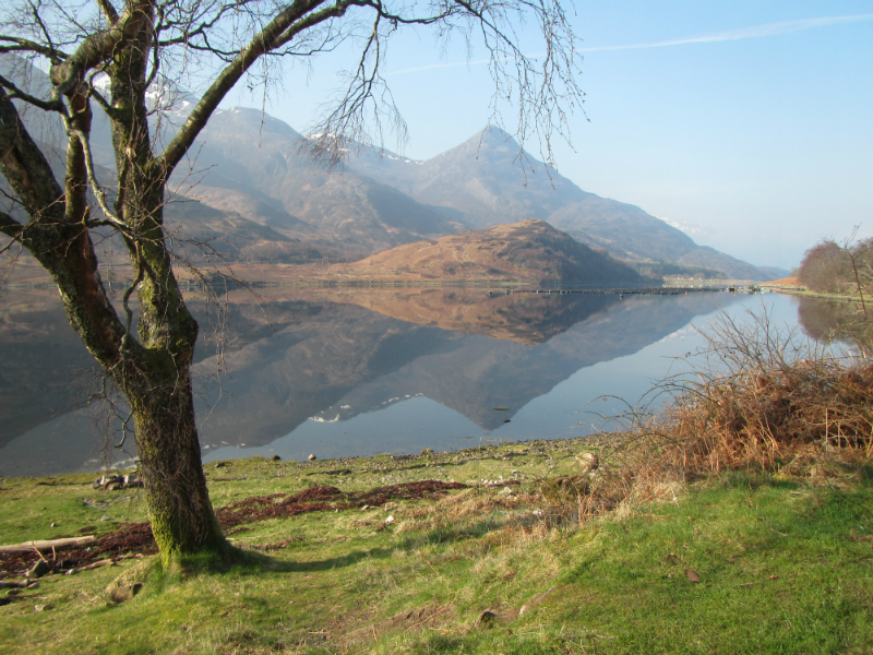 The Pap of Glencoe in reflection