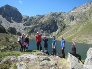 One of the groups at Lac d'Ilheou