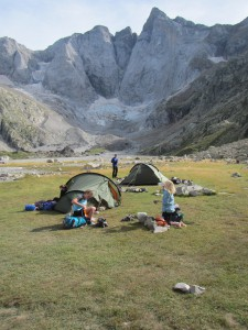 Camping below Vignemale