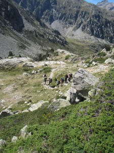 Descending the the Marcadau Valley