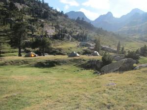 Camping near the Wallon Refuge